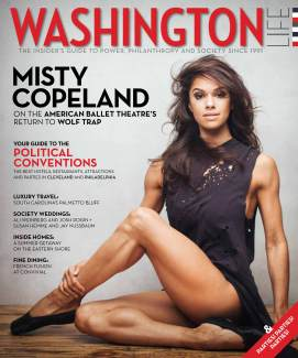 Misty Copeland on the July 2016 cover of Washington Life. (Photo by Nicholas LaClair)