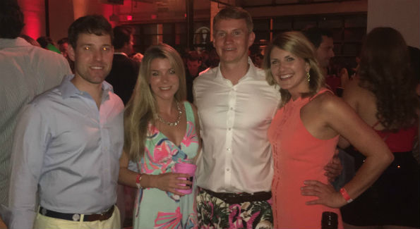 Zack Dugan (second from right), Madddie Schaffer (right)