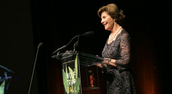 Former First Lady Laura Bush shared her personal love for our nation's National Park Service. Mrs. Bush was the Honorary Co-Chair for the 2016 Wolf Trap Ball. (Photo: Courtesy of Wolf Trap)