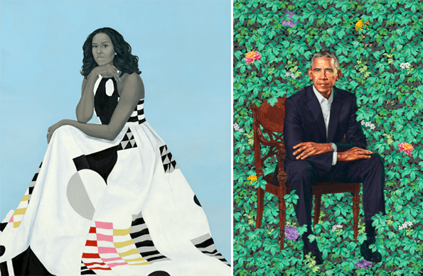 Does Michelle Obama's Official Portrait Gown Have a Hidden Meaning?