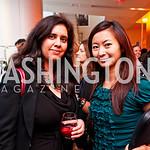 Photo by Tony Powell. Tracy D'Souza, Anchyi Wei. Fed Talks 2010. Harman Center. October 12, 2010
