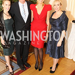 Photo by Alfredo Flores. Cindy Jones, Mark Warner, Elizabeth de Kergorlay, Laura Bode . An International Evening of Excellence In Honor of Global Kids in D.C. at the Residence of the French  ...