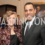 Photo by Alfredo Flores. Caroline Artigiani Tony Miller . An International Evening of Excellence In Honor of Global Kids in D.C. at the Residence of the French Ambassador. December 12, 2010