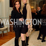 Lynda Erkiletian, Michaele Salahi. Supporters unite to confront the global trafficking in women and children at the Belgian Embassy in Washington, DC on Wednesday, June 19, 2008.  (James R. ...