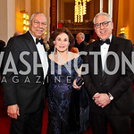 General Colin Powell, Alma Gildenhorn, David Rubenstein. Kennedy Center Spring Gala. Photo by Tony Powell. April 3, 2011