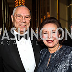 General Colin Powell and Alma Powell. Kennedy Center Spring Gala. Photo by Tony Powell. April 3, 2011