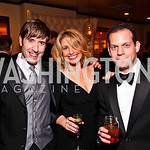 Nathan Payne, Washington Business Tonight anchor Rebecca Cooper, Evan Glass. CNN Congressional Correspondent's Dinner After Party. Photo by Tony Powell. Lincoln. March 30, 2011