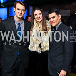 Austin Bryan, Marley Clements, Javier Equihua. Nigel Barker Book Party. Photo by Tony Powell. Eden. February 24, 2011