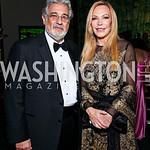 Placido Domingo, Susan Lehrman. Photo by Tony Powell. Opera Ball. Embassy of China. May 7, 2011