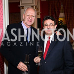 George Goeggel, Jaume Tàpies. VIP reception for Relais & Chateaux Hotels. Photo by Tony Powell. French Ambassador's residence. March 28, 2011