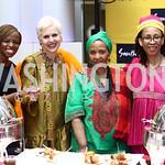 Nontando Ngidi, Jan Du Plain, Nowetu Luti, Embassy of South Africa Chef Zondwa Sikakane. Photo by Tony Powell. 2015 Embassy Chef Challenge. Reagan Building. May 20, 2015