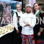 Nina Langli, Royal Norwegian Embassy Executive Chef Sindre Risvoll, Karoline Afloy. Photo by Tony Powell. 2015 Embassy Chef Challenge. Reagan Building. May 20, 2015