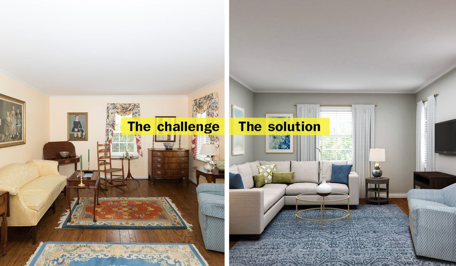 How To Turn A Dated Formal Living Room Into A Cozy Retreat