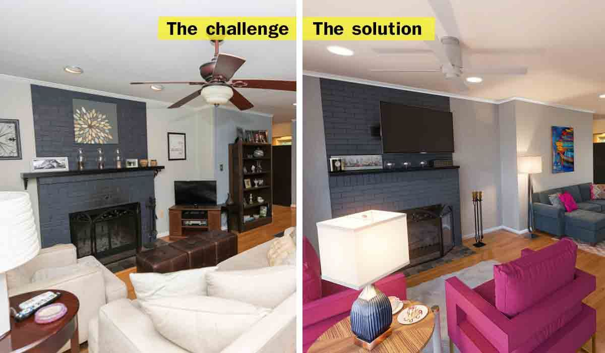 How To Add Seating To A Long, Narrow Living Room, While