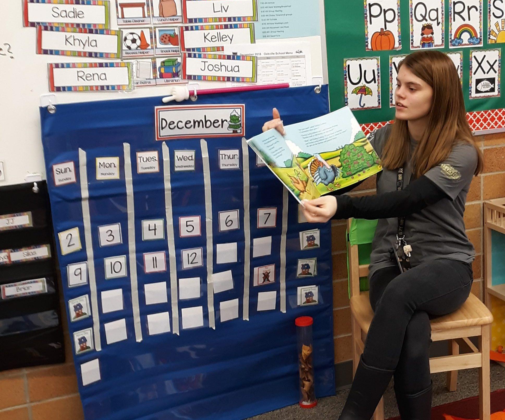 Washington Reading Corps member Dana serving at Oakville Elementary School in Oakville, WA