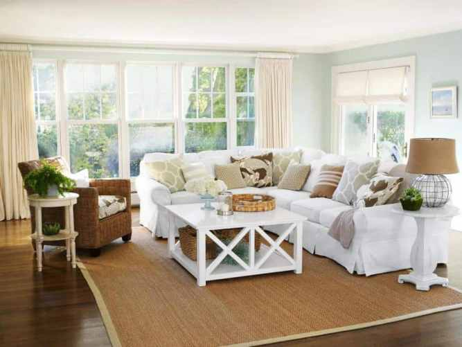Open and airy coastal glam decor