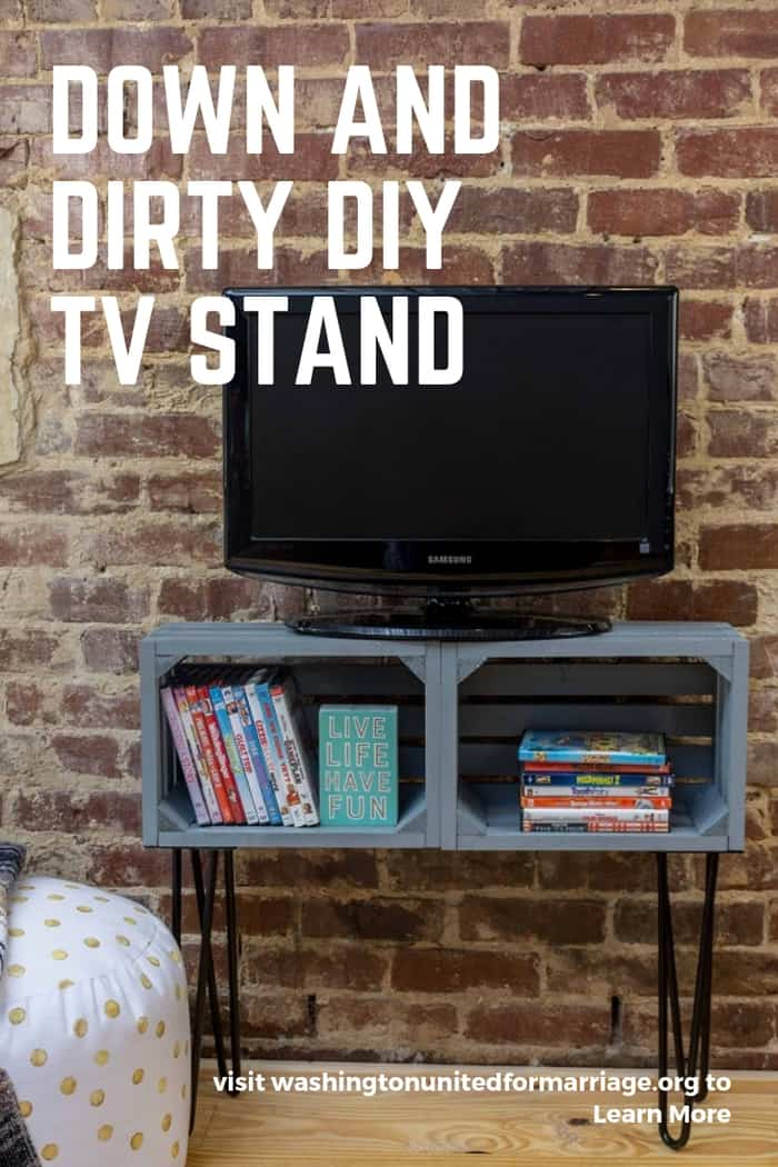 Down and Dirty DIY TV Stand