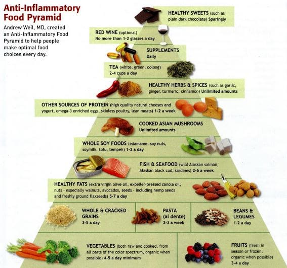 Reduce Inflammation by Following the Dr  Weil Food Pyramid