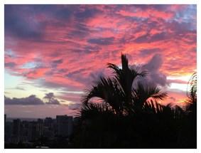 Beautiful sunset seen from the kitchen window