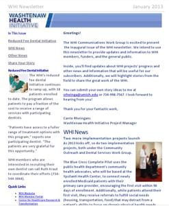 January 2013 WHI Newsletter