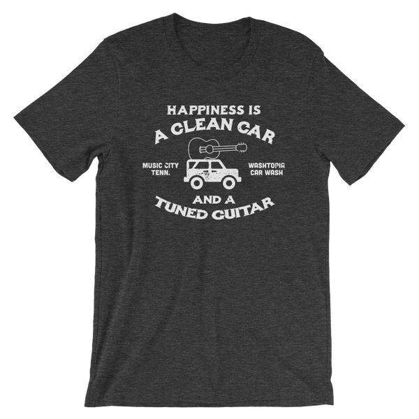 """""""Happiness is a Clean Car..."""" Washtopia T-Shirt (Charcoal)"""