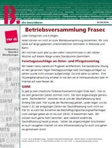 Flugblatt Betriebbsversammlung Frasec