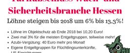 Tarifergebnis Hessen Wach- und Sicherheitsbranche 2017