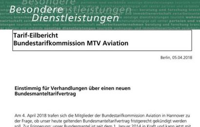 Luftsicherheit: Tarifkommission für Verhandlungen
