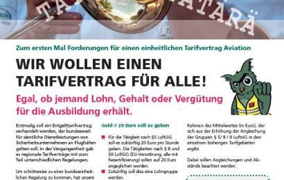 Luftsicherheit: Einen Tarifvertrag für alle!