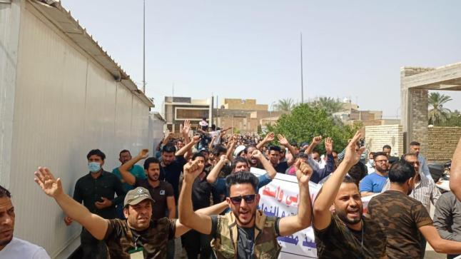 اغلاق مكتب انتخابات واسط من قبل المحاضرين المجانيين