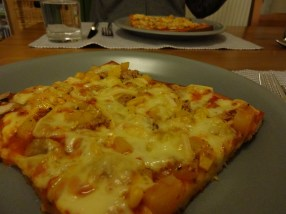 Raclette Pizza - fertig