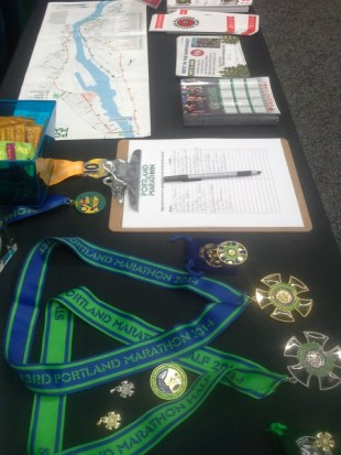Sharing Portland Marathon love with expo goers.