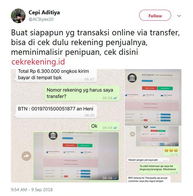 Situs Cekrekening Id Viral Di Medsos Ini Penjelasan Kominfo Waspada Online