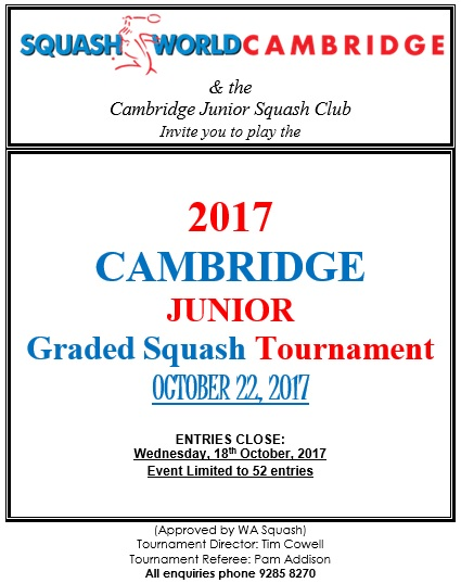 2017 Cambridge Junior Graded Poster