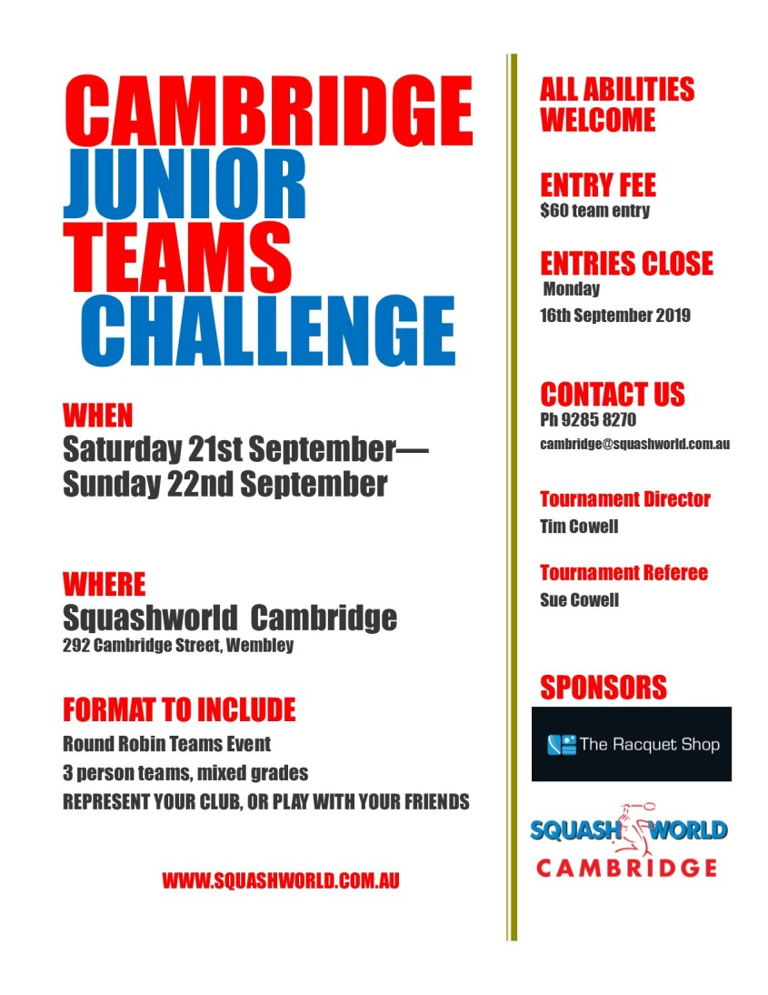 Cambridge Junior Teams Poster
