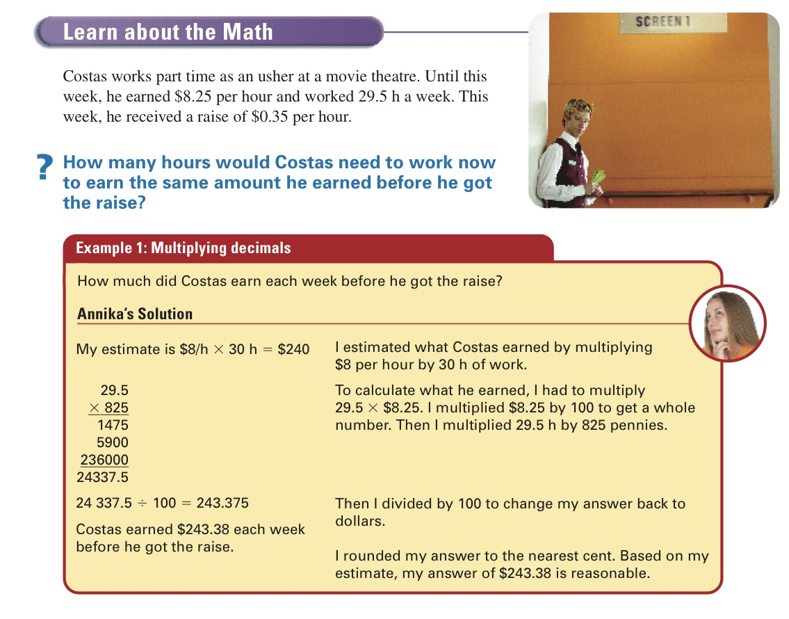 Daily Math Work Term 1