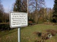 Regeln für den Friedgarten