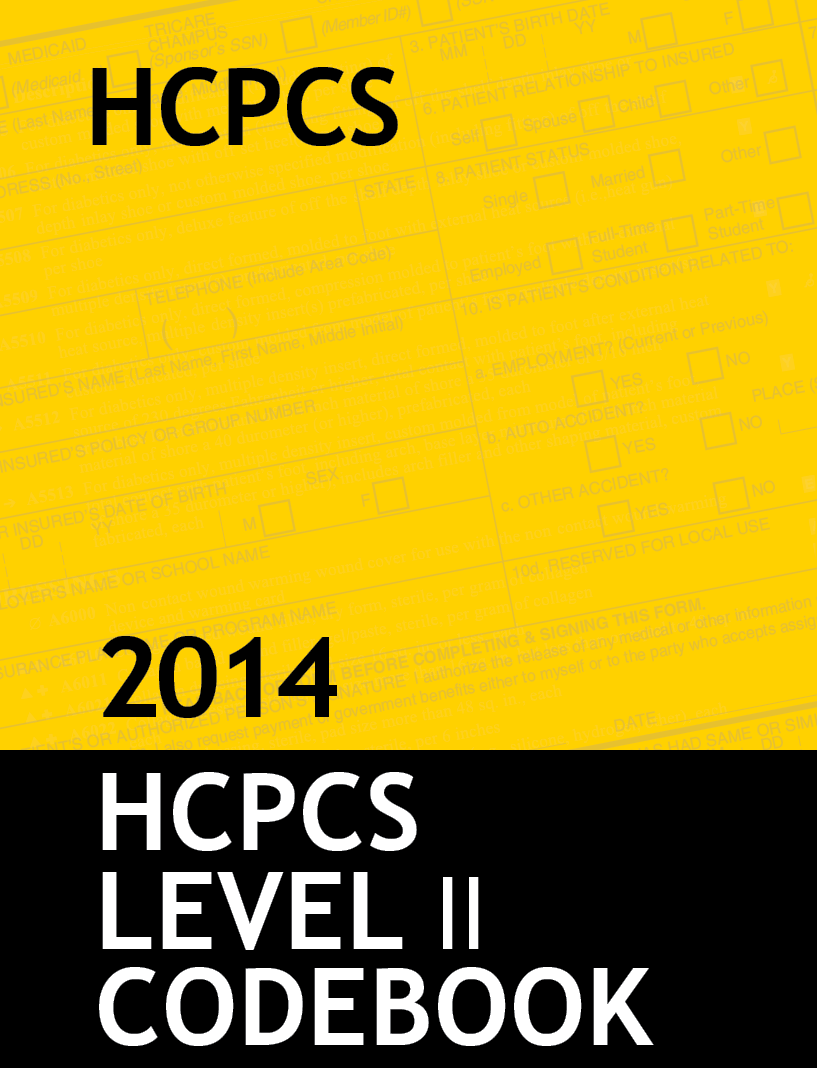 HCPCS Level II Code Book & Fee Guide Updated for 2014