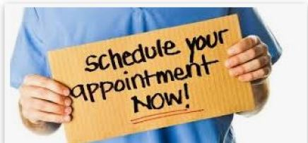 SCHEDULE Your Appointment NOW_