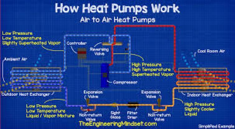 Image result for heat pump schematic