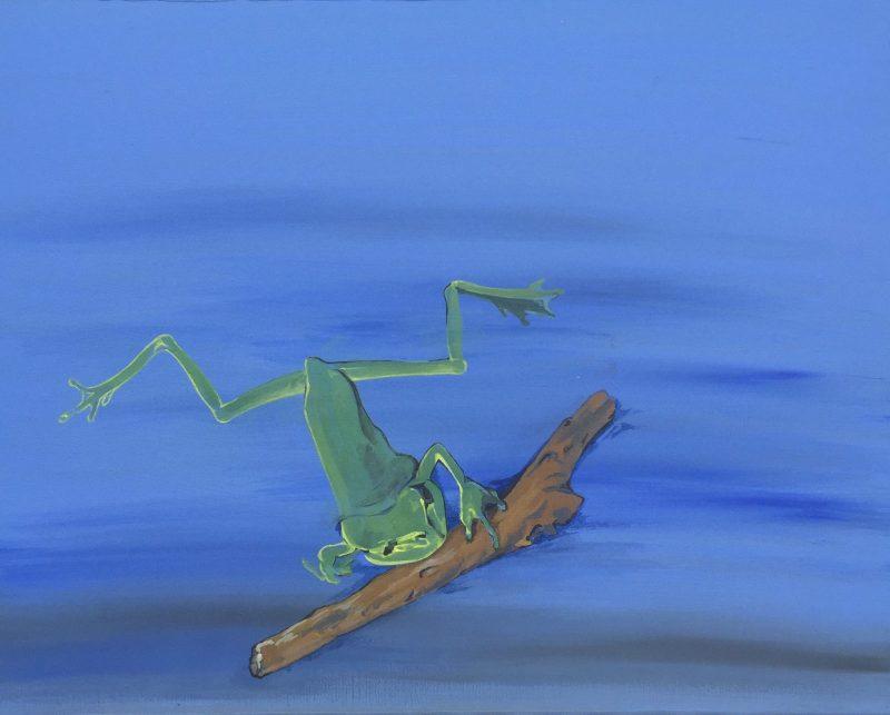 abgemagerter Frosch
