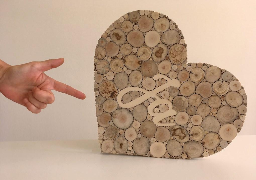 alternatives Gästebuch aus Holz für Hochzeit