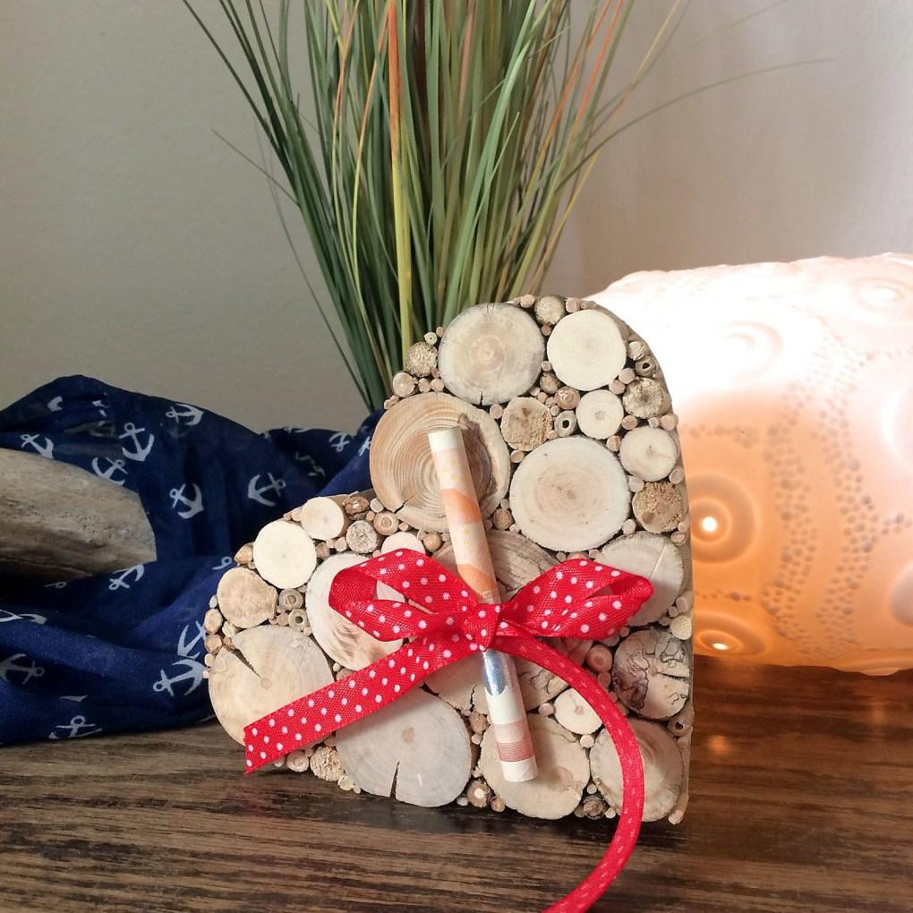 Hochzeitsgeschenk Geldgeschenk Herz Holz