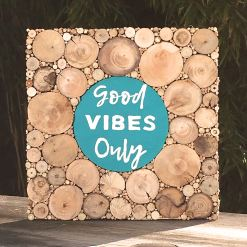 Holzbild Good Vibes Only