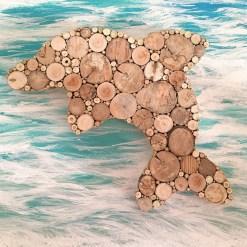Delfin aus Treibholz, Holzdeko