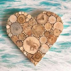 Herz aus Treibholz, Geschenkidee Hochzeit