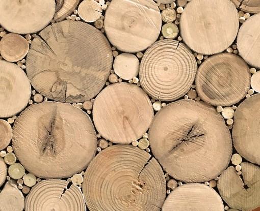 Detailansicht Treibholzscheiben