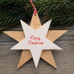 Stern Anhänger Merry Christmas
