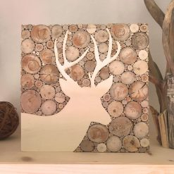 Hirsch Holzbild aus Treibholz