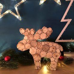 Elch aus Treibholz - Weihnachtsdeko